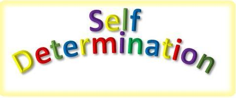 self determination word art