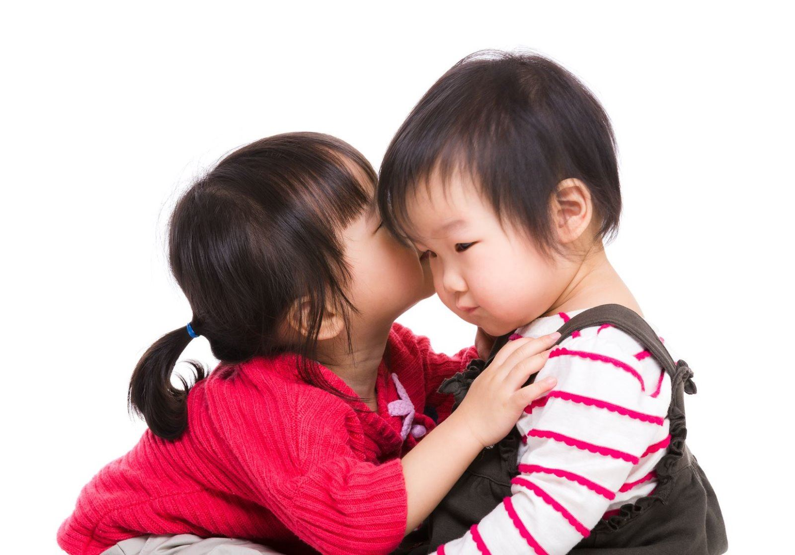 empathetic kids hugging